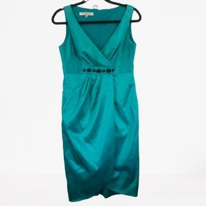 Teal Tulip skirt dress with marble gems
